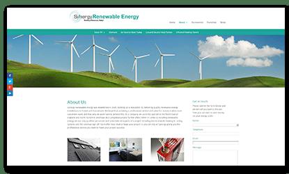 Screen Fluid Web Development Synergy Renewable Energy