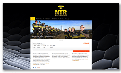 Fluid Web Development North Tyneside Riders